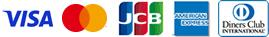 使用可能なクレジット(VISA,MASTER,JCB,American Express,DinersClub)