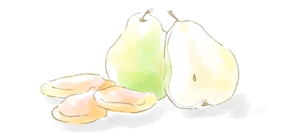 洋ナシのドライフルーツ