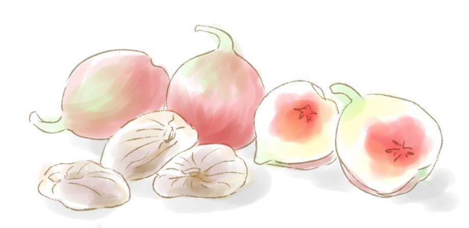 白イチジクのドライフルーツ