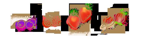 赤い実のコンフィチュールのイラスト