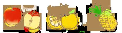 3種の果実のコンフィチュールのイラスト