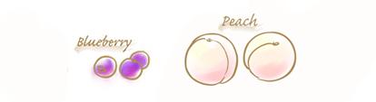 白桃&ブルーベリーのコンフィチュールのイラスト