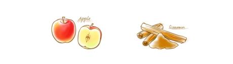 リンゴ&シナモンのコンフィチュールのイラスト