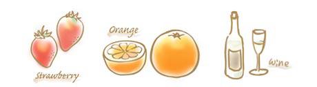 苺&オレンジ&白ワインのコンフィチュールのイラスト